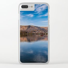 Llanberis Lake Reflections Clear iPhone Case