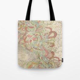 River Cartography Tote Bag