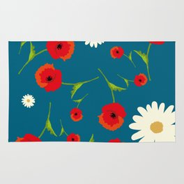 Country flowers Rug