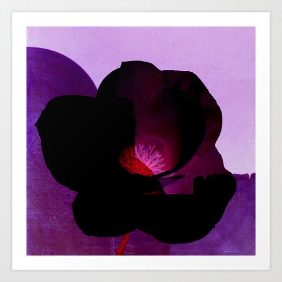 fleur noire Art Print