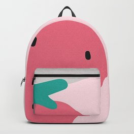 PASTEL PINK ABSTRACT STRAWBERRY Backpack