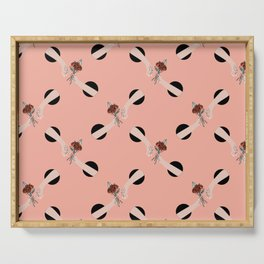 In Love - hands with flowers - PINK #pattern Serving Tray