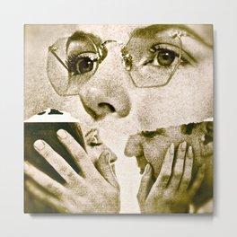 Four Eyes - collage Metal Print