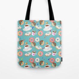 Coffee and Doughnuts Tote Bag