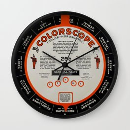 Colorscope Classic : Red and Black Horoscope  Wall Clock