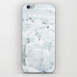 White winter glacier icelandic landscape photography iPhone Skin