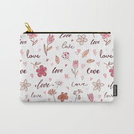 Floral Love Letter Carry-All Pouch