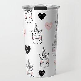 Unicorn hearts Travel Mug