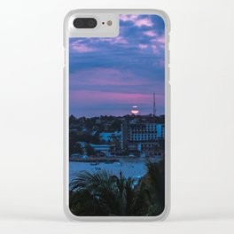 atardecer zicatela entre la nubes Clear iPhone Case