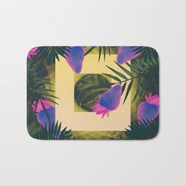 Neon Strawberries in the Night #2 Bath Mat