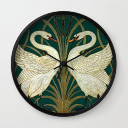 Walter Crane's Swan, Rush, Iris Wall Clock
