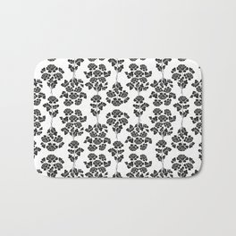 Black roses pattern Bath Mat