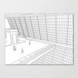 Windows of the Met, New York Canvas Print