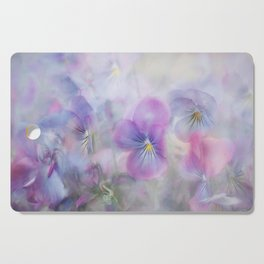 little pansies Cutting Board