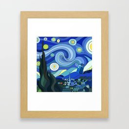 Tardis Art Starry Night Framed Art Print