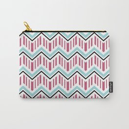 Jeweltoned Chevron Geometric Carry-All Pouch
