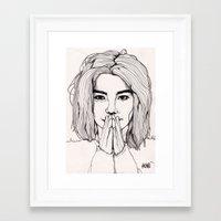 bjork Framed Art Prints featuring Bjork by Paul Nelson-Esch Art