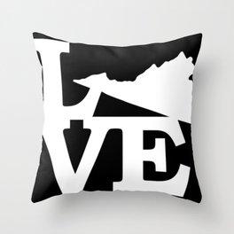 Virginia Pride USA State Love Map Throw Pillow