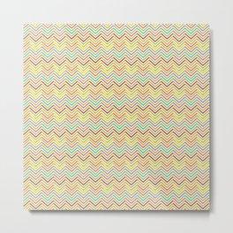 Colorful abstract modern geometrical chevron pattern Metal Print