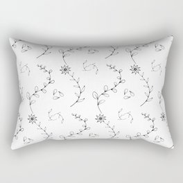 Herbal outline pattern Rectangular Pillow