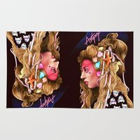 artpop Area & Throw Rugs featuring Neon Artpop by Helen Green