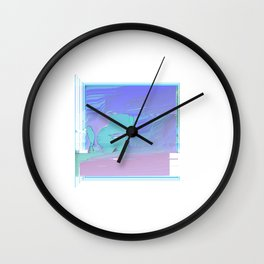 Sad Not at the Beach Wall Clock
