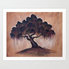 Sunrise Oak Art Print