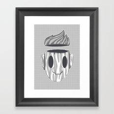 Wooden Head Boy Framed Art Print