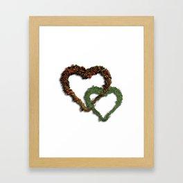 natural hearts Framed Art Print