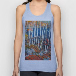 In The Northland (Group Of Seven) by Tom Thomson Canadian Landscape Art Unisex Tank Top