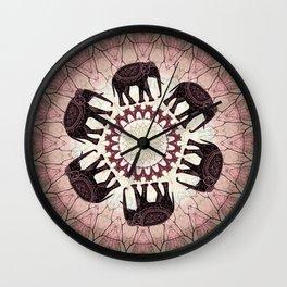 Boho Elephants Wall Clock