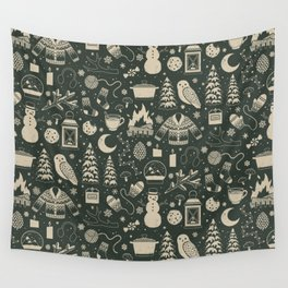 Winter Nights: Forest Wall Tapestry