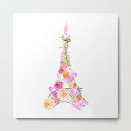 Paris in Bloom Metal Print