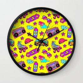 Old-times fun / Yellow Wall Clock