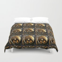 Carved Wood With Gilded Acanthus Leaves Duvet Cover