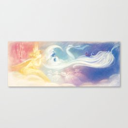 """The Sun, The Stars and The Moon // Illustration from """"Once Upon A Cloud"""" Canvas Print"""