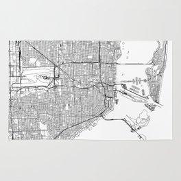 Miami White Map Rug