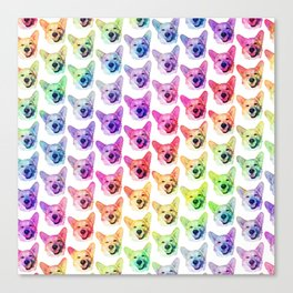 Rainbow Corgis Canvas Print