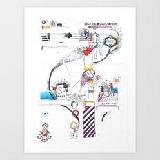 Tweaking Art Print