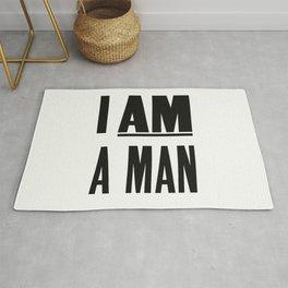 I AM A MAN Rug
