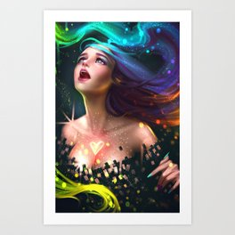 The colors of heart Art Print