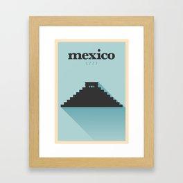 Minimal Mexico Poster Framed Art Print