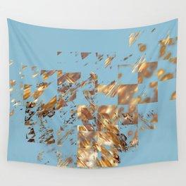 Bronze on Aqua Square #abstract #society6 #decor #geometry #minimalism Wall Tapestry