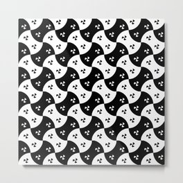 Optical pattern 157 black and white Metal Print