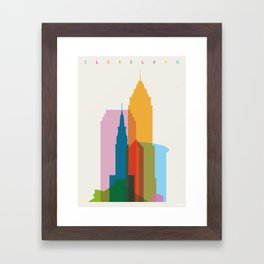 Shapes of Cleveland accurate to scale Framed Art Print