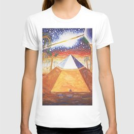 The Cydonia pyramid by the time there was life on Mars T-shirt