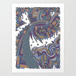 Wandering 49: color variation 3 Art Print