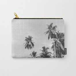 Palms Trees on the San Blas Islands, Panama - Black & White Carry-All Pouch