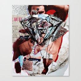 Diamond Head - Magazine Collage Painting Canvas Print
