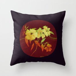 floral in Asian feel Throw Pillow